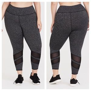 Torrid Space Dye Mesh Cropped Active Leggings